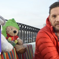 Tom Hardy snuggles up to favourite pet in clip for his final bedtime story