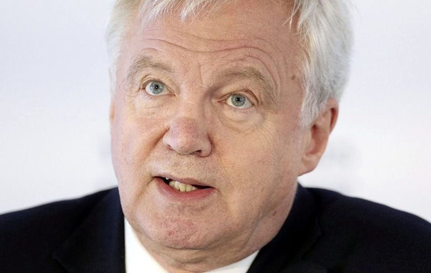 Davis says Brexit trade agreement would progress border issue