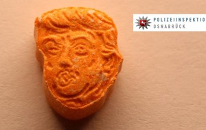 German police have seized thousands of orange 'Trump' ecstasy tablets