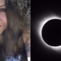 This mum made one of the solar eclipse's most popular memes