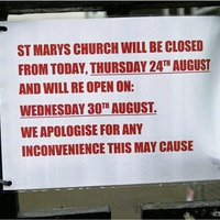 Oldest Catholic Church in Belfast remains closed for Mass after delay to building work