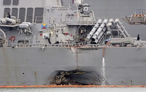Divers recover bodies of 10 US navy sailors killed in Singapore collision