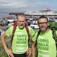 Armagh man on `The Long Walk Home' invites public to share a leg as he arrives in Ireland