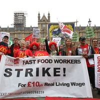 Here's what striking McDonald's workers had to say outside Parliament