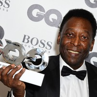 Pele shares the love as he receives honour at GQ Men of the Year Awards