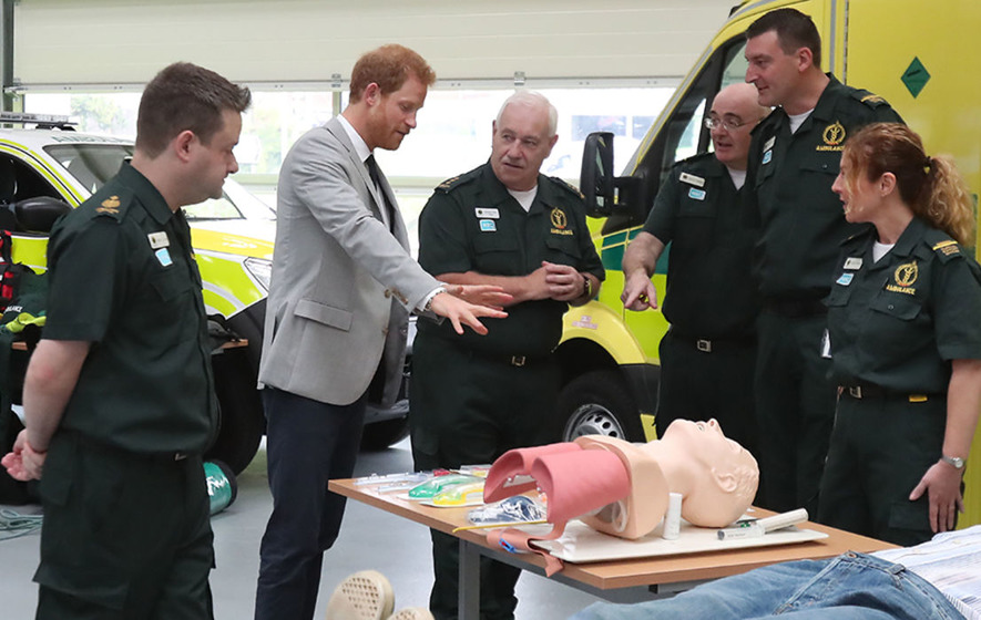 Prince Harry makes first visit to Northern Ireland