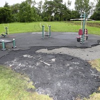 Vandals set fire to outdoor gym in Falls Park
