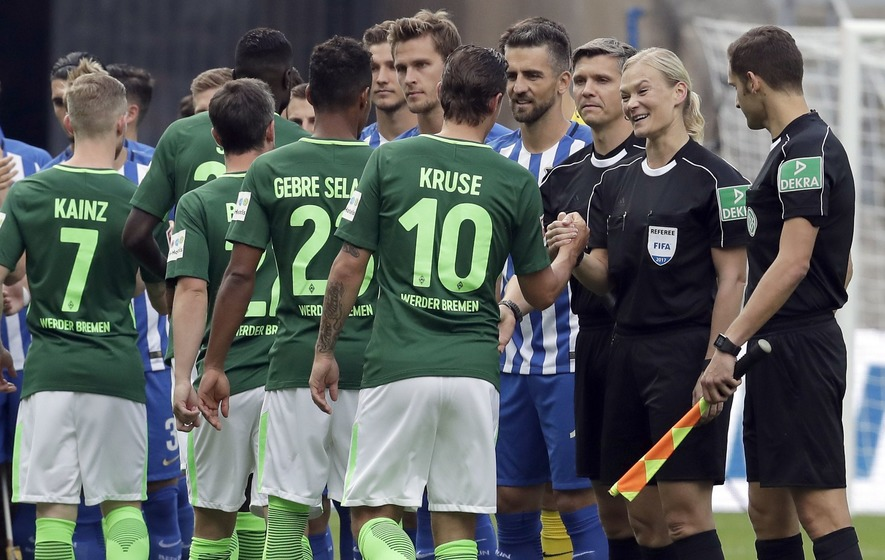 History is made after Bibiana Steinhaus becomes the Bundesliga's first female referee
