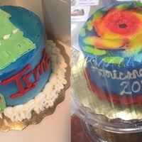 Hurricane Irma-themed cakes have been popping up all over Florida