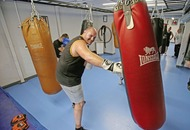 Former heavyweight king Tyson Fury returns to training at St Paul's ABC