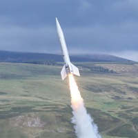 Space tourism firm launches rocket at Northumberland National Park