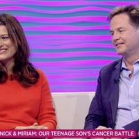 Nick Clegg reveals son's cancer diagnosis