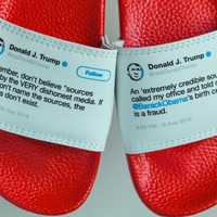 This guy has taken Donald Trump's 'flip-flopping' tweets and turned them into actual flip flops