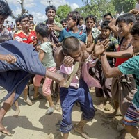 UN estimates 240,000 children have fled Burma's Rakhine state into Bangladesh in last three weeks