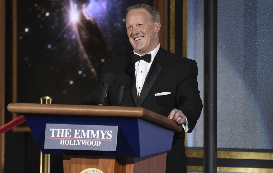 Sean Spicer Appears As Himself At The Emmys