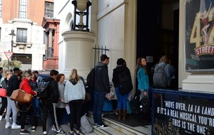 West End hopefuls line the London streets for first 42nd Street auditions