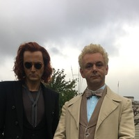 David Tennant and Michael Sheen rock dramatic new looks for Good Omens series