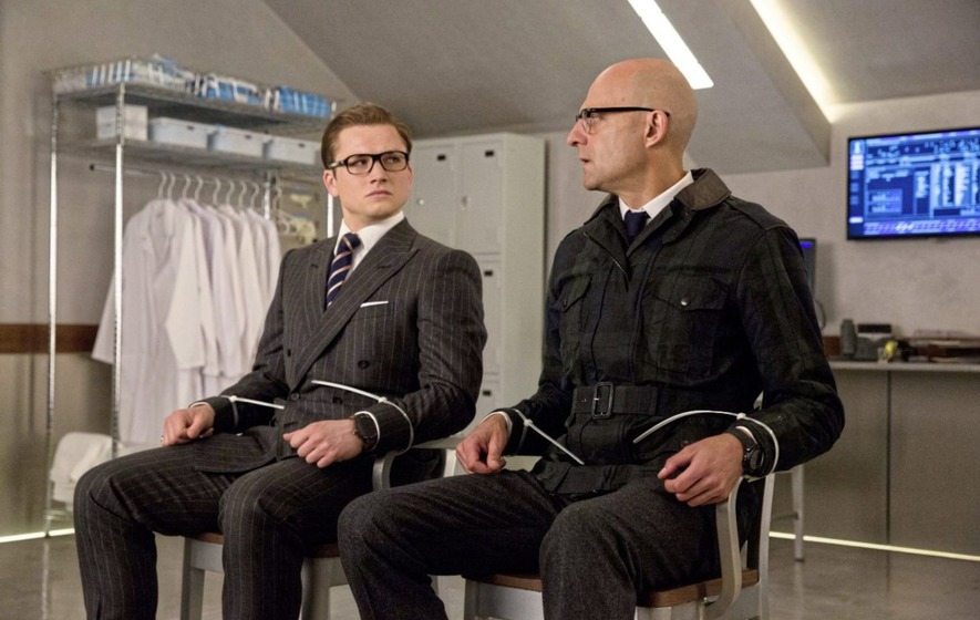 Taron Egerton and Mark Strong in Kingsman The Golden Circle