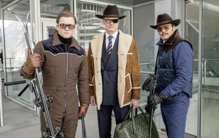 Taron Egerton Colin Firth and Pedro Pascal in Kingsman The Golden Circle