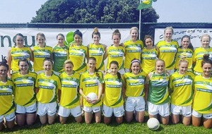 Irish News Club award winners Vancouver Ladies Football team in North American Championship
