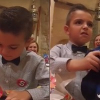 This young Juventus fan's reaction to being gifted an Inter shirt is too perfect