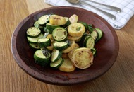 James Street South Cookery School: Autumnal fried courgette and pickled mackerel