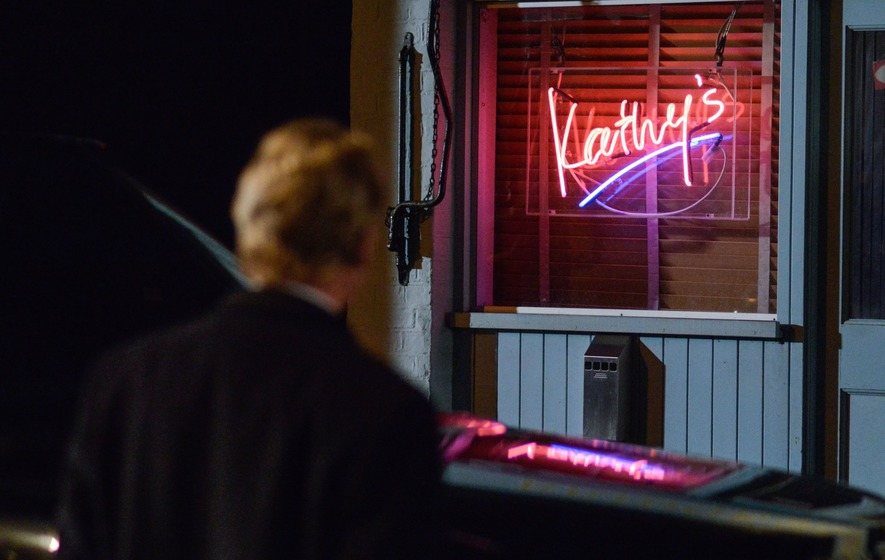 Villain Willmott-Brown sneaks around Kathy's Cafe in new EastEnders pictures