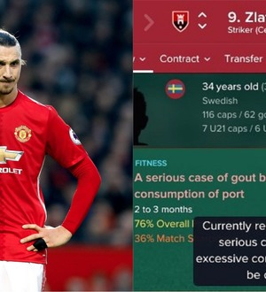 A Football Manager player modified the game so his players could be afflicted by historical maladies