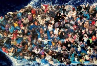 Painting of refugees at sea wins art prize