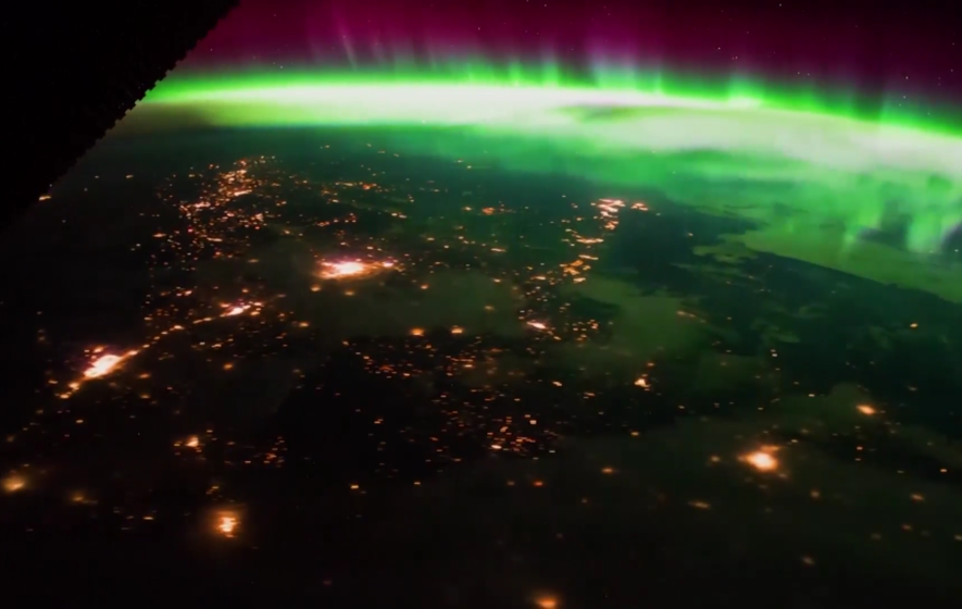 You need to see this timelapse of the Aurora Borealis filmed from the International Space Station