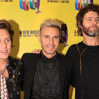 Take That hit the red carpet to open their musical, The Band