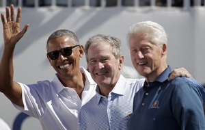 Three former US presidents attended the Presidents Cup for the first time ever this year