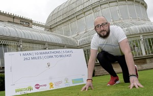Belfast man due to complete epic 10-marathan run from Cork tomorrow