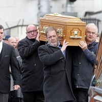 Mourners gather in Co Down to pay final respects to actor Marc O'Shea