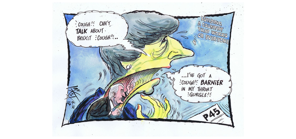 Barnier in the throat