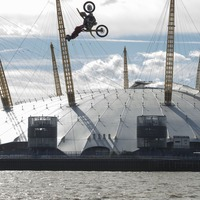 Watch this breathtaking motorcycle backflip over the Thames