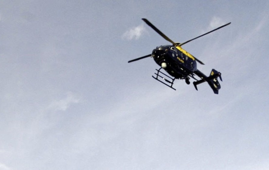 Man (19) charged after laser shone at police helicopter