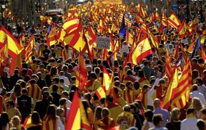 Thousands rallying in central Barcelona to protest against independence