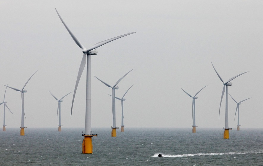 Vast and efficient ocean wind farms 'could power human civilisation'