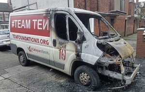 Charity van which helps people in Philippines burnt out in arson attack in east Belfast