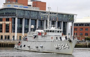 Nato crew members `cooperating with local authorities' after damage was caused to 'Lagan Weir footbridge