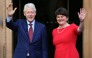 Bill Clinton arrives in Northern Ireland to meet political parties