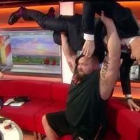 Video: BBC Breakfast's Dan Walker bench pressed during live broadcast