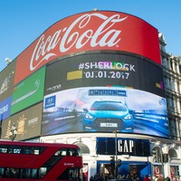 The Piccadilly Circus lights will show adverts based on nearby cars and people