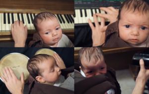 You need to see this video of a man playing Toto's Africa to his baby girl