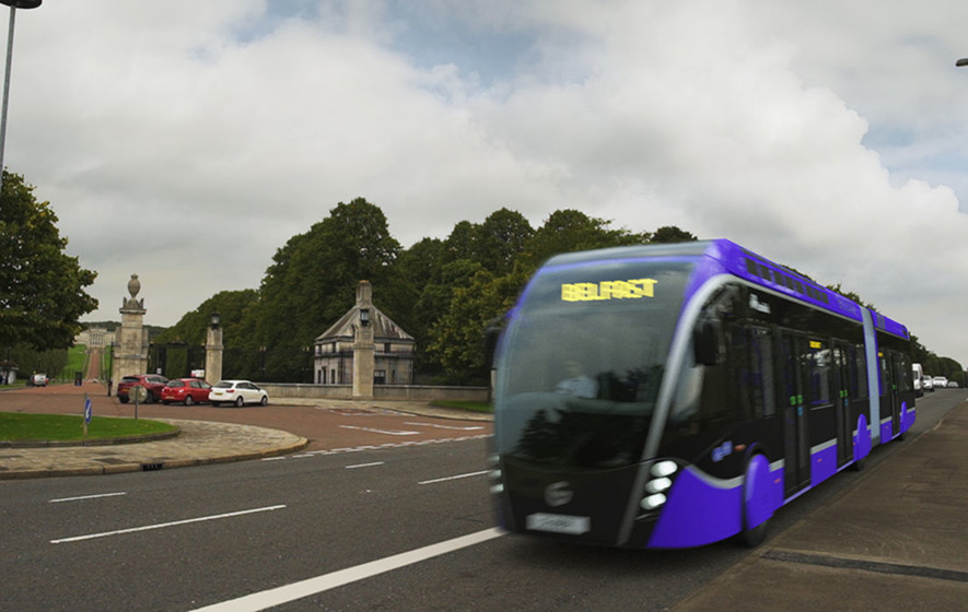 belfast rapid transit 39 glider 39 bus unveiled the irish news. Black Bedroom Furniture Sets. Home Design Ideas