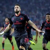 Olivier Giroud hits late winner for Arsenal in Belgrade