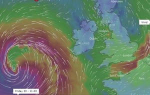 Watch: Storm Brian on its way to Ireland