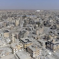 This drone footage shows the devastation in the Syrian city of Raqqa