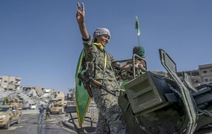 Victory declared victory over Islamic State in its former de facto capital of Raqqa